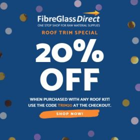 20% off Fibreglass Roof Trims when Purchased with any Roof Kit!