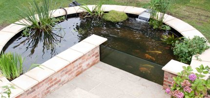 Completed Fibreglass Garden Pond